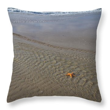 Waiting To Be Discovered Throw Pillow by Betsy Knapp