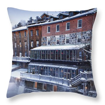 Wakefield Inn Throw Pillow by Eunice Gibb