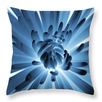 Waking Up In Blue Throw Pillow by Carol Groenen