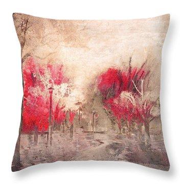 Walk Me Into Yesterday Throw Pillow by Tara Turner