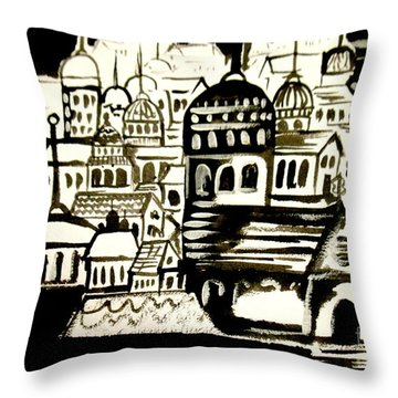 Throw Pillow featuring the painting Walk My Streets by Amy Sorrell