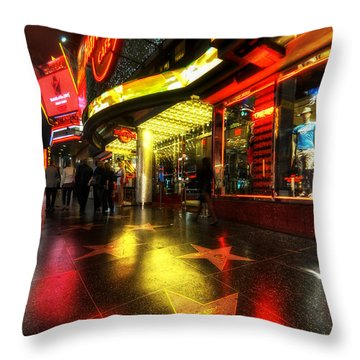 Walk Of Fame Throw Pillow by Yhun Suarez