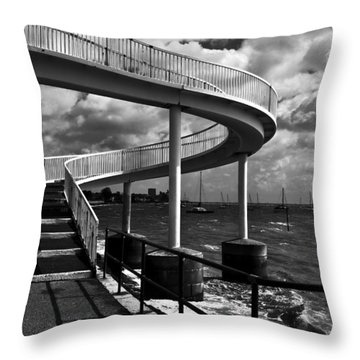 Walk Over Water Throw Pillow by Trevor Chriss