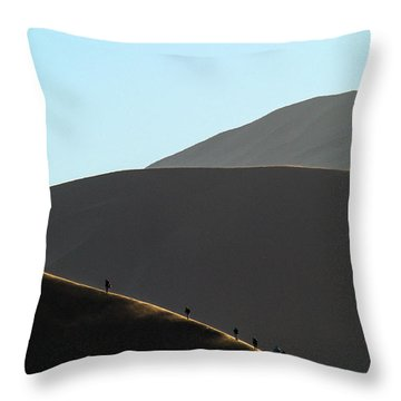 Walk The Edge Throw Pillow