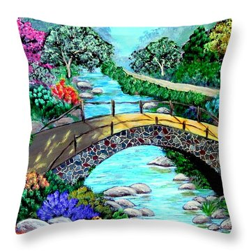 Walk With Me Throw Pillow by Fram Cama