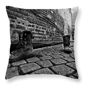 Throw Pillow featuring the photograph Walkabout by Dan Wells