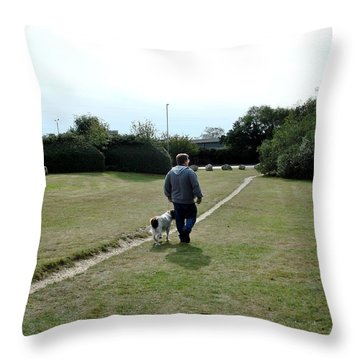 Throw Pillow featuring the photograph Walking by Katy Mei