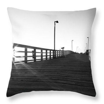Walking The Planks Sunrise Throw Pillow by Betsy Knapp