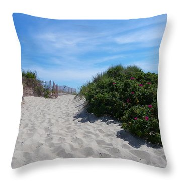 Walking Through The Dunes Throw Pillow