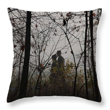 Walking To Church Throw Pillow