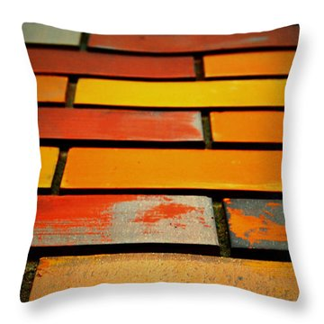 Wall Of Race Throw Pillow by Jerry Cordeiro