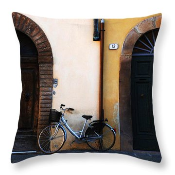 Walled City Of Lucca Throw Pillow by Bob Christopher