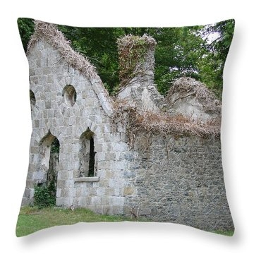 Throw Pillow featuring the photograph Walls For The Winds by Charlie and Norma Brock