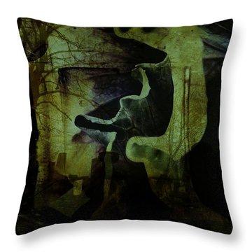 Wandering Around Throw Pillow by Shirley Sirois