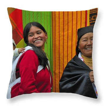Wandering Through The Market Throw Pillow by Tony Beck