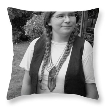 Wanted To Be Janis Joplin Throw Pillow by Kym Backland