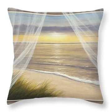 Warm Breeze Panoramic View Throw Pillow
