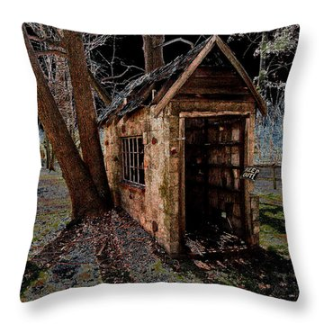 Warned Throw Pillow by Cindy Roesinger