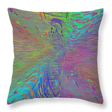 Warp Of The Rainbow Throw Pillow by Tim Allen