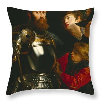 Warrior  Throw Pillow by Peter Paul Rubens
