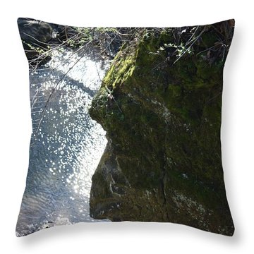 Warrior Rock Throw Pillow