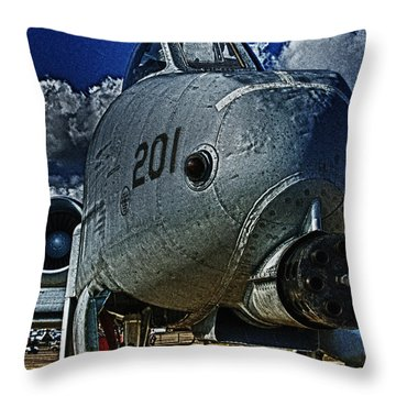 Throw Pillow featuring the photograph Warthog by Travis Burgess