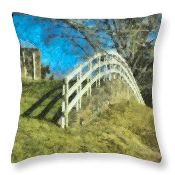 Warwick's Curve Throw Pillow by Trish Tritz