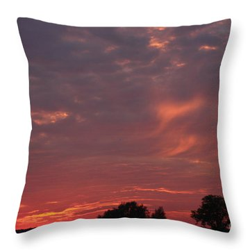Warwickshire Sunset Throw Pillow by Linsey Williams