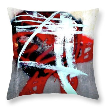 Throw Pillow featuring the photograph Was Here by Newel Hunter