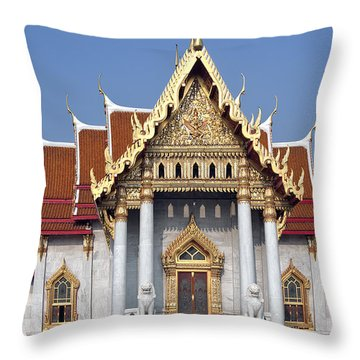 Wat Benchamabophit Ubosot Dthb180 Throw Pillow