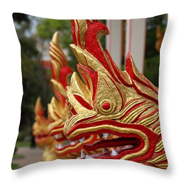 Wat Chalong 3 Throw Pillow