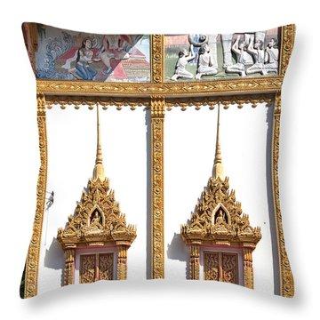 Wat Kan Luang Ubosot Windows Dthu189 Throw Pillow by Gerry Gantt
