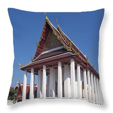Wat Thewarat Kunchorn Ubosot Dthb1297 Throw Pillow by Gerry Gantt