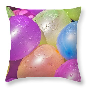 Water Balloons Throw Pillow by Patrick M Lynch