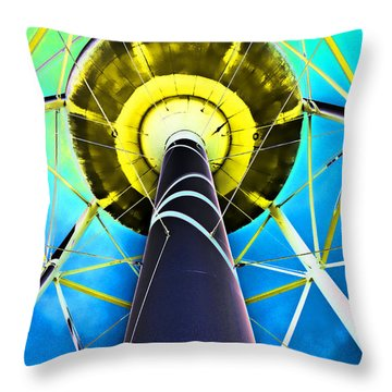 Water Belly Iv Throw Pillow by Debbie Portwood