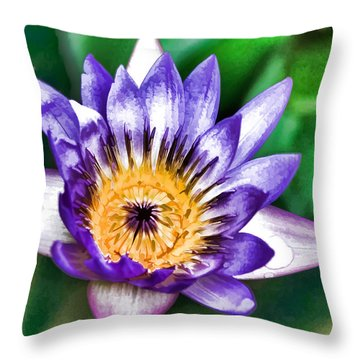 Water Color Lily Throw Pillow