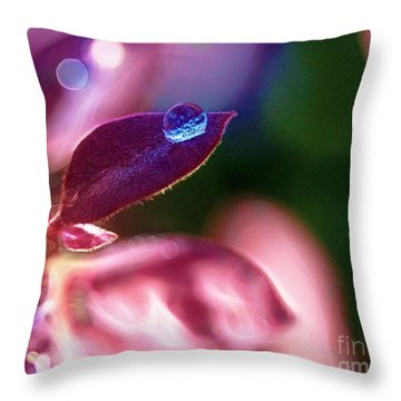 Water Drop Throw Pillow by Judi Bagwell