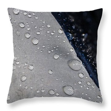 Throw Pillow featuring the photograph Water Droplets by Ester  Rogers
