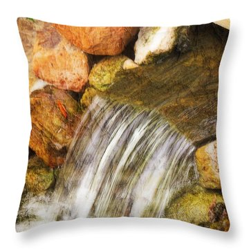 Throw Pillow featuring the photograph Water Fall by Joan Bertucci