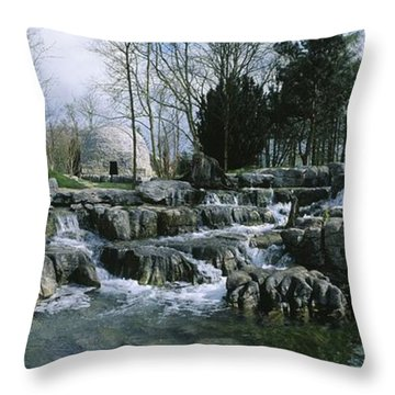 Water Flowing In A Garden, St. Fiachras Throw Pillow by The Irish Image Collection