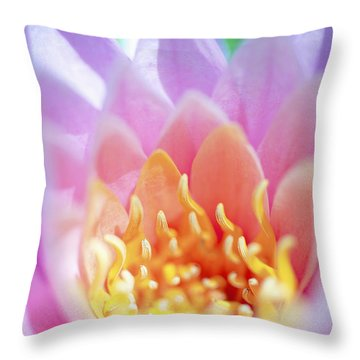 Water Lily Center Throw Pillow by Kicka Witte