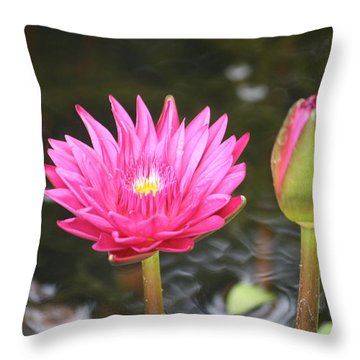 Throw Pillow featuring the photograph Water Lily by Donna  Smith