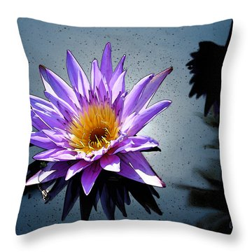Water Lily Dream At Fairchild 2 Throw Pillow by Olivia Novak