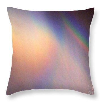 Water Rainbow Throw Pillow by Phyllis Kaltenbach