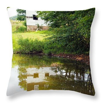 Water Reflections Throw Pillow by Robert Margetts