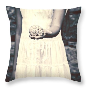 Water Snail Throw Pillow by Joana Kruse