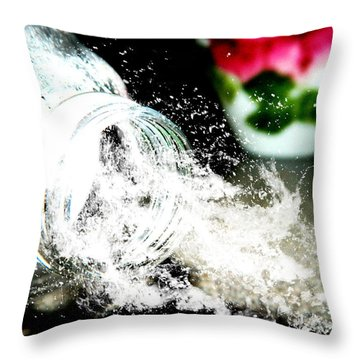 Throw Pillow featuring the photograph Water Spill by Ester  Rogers