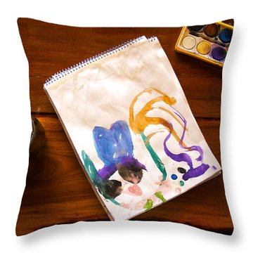 Watercolor Throw Pillow by Fabrizio Troiani