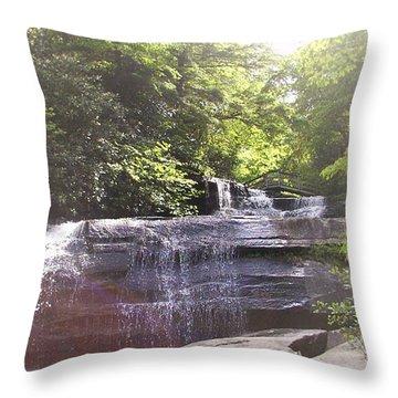 Waterfall Throw Pillow by Kelly Hazel