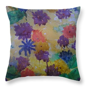 Waterflowers Throw Pillow